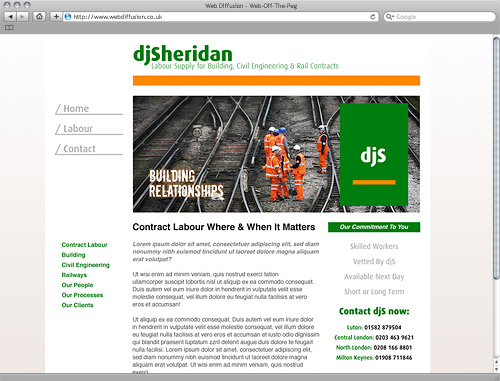 Employment agency Web Diffusion website design