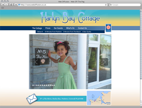 Cornwall holiday cottage Web Diffusion website design