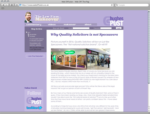 Hertfordshire lawyer Web Diffusion website design