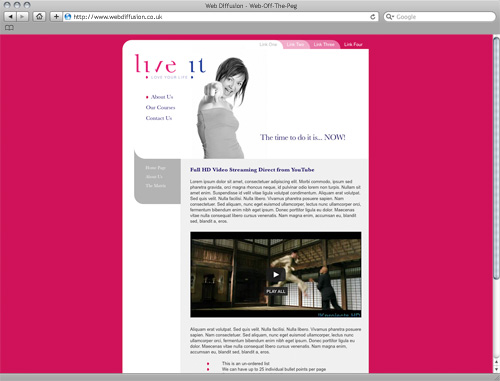 Womens personal trainer Web Diffusion website design