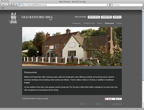 Harpenden office space Web Diffusion website design
