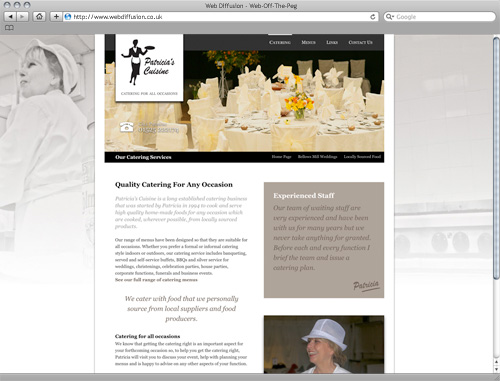 Bedfordshire caterer Web Diffusion website design